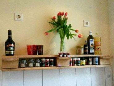 einfachfuerdich - wandregal aus europaletten für die küche | möbel ... - Küche Wandregal