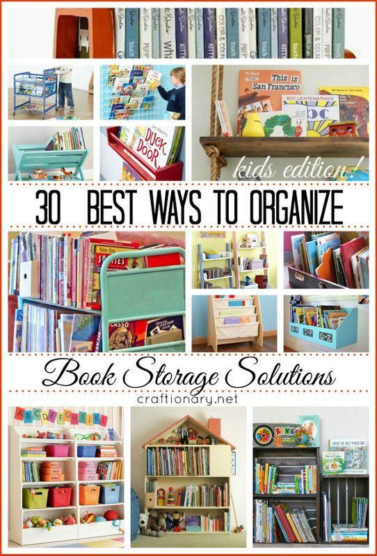 30 best ways to organize books storage solutions book for Kids book storage diy