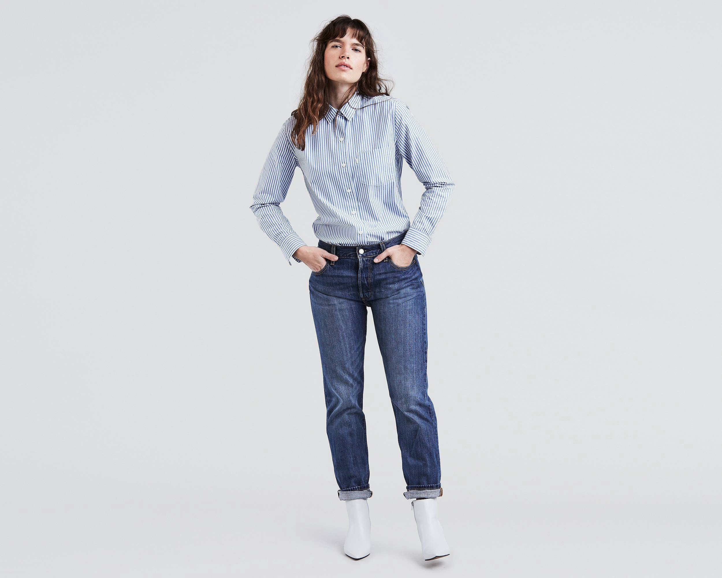 1ae3a01c43b Levi's 501® Original Fit Jeans For Women - Lonesome Road 30W X 32L Blue