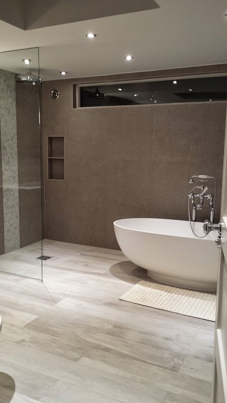 Emma Victoria ID Project. Ensuite Bathroom 2014: Walk-in ... on Wet Room With Freestanding Tub  id=74253