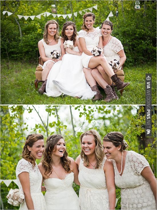 cream bridesmaid dresses | CHECK OUT MORE IDEAS AT WEDDINGPINS.NET | #bridesmaids