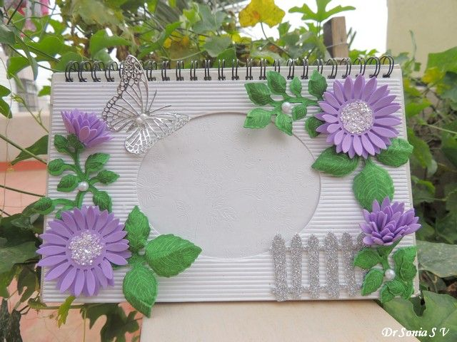Card Making Ideas With Flowers Part - 38: Handmade Foam Flowers On A Handmade Photoframe