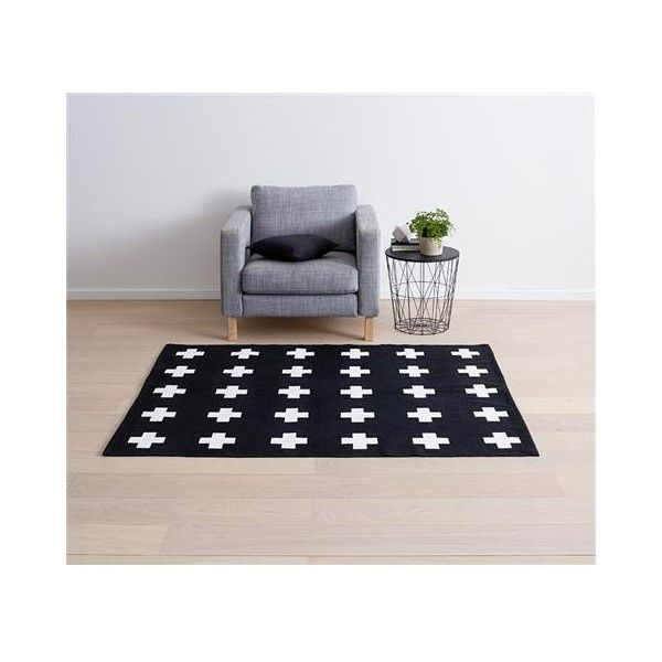 Black · cross print rug black white kmart