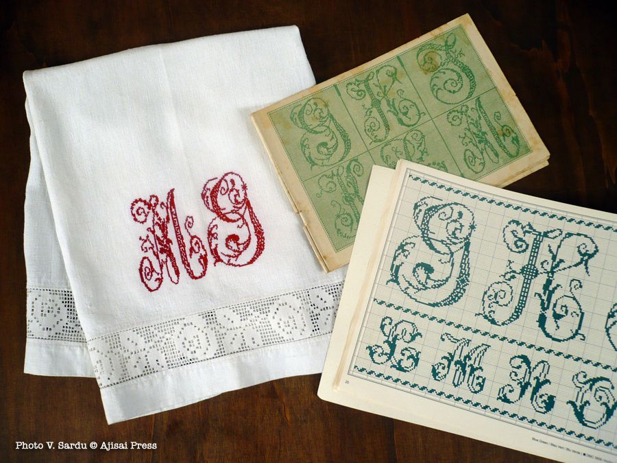 Letters from the book u201cVintage cross stitch