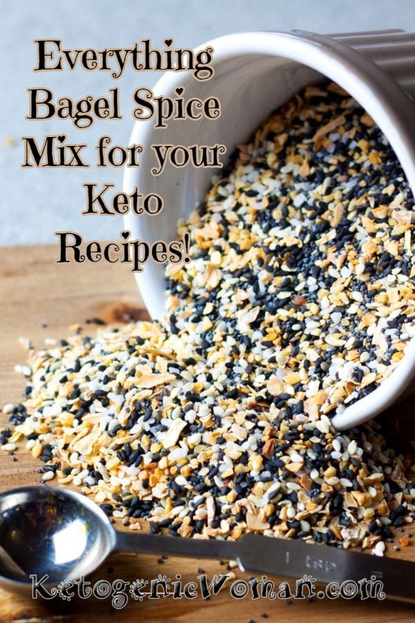 Bagel Spice Mix For Your Keto Recipes Make your own Everything Bagel Spice Mix and save money! Only 5 ingredients and 5 minutes! Use it on eggs, chicken, oopsie rolls, keto crackers, and well everything!Make your own Everything Bagel Spice Mix and save money! Only 5 ingredients and 5 minutes! Use it on eggs, chicken, oopsie ro...