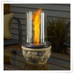 Outdoor GreatRoom Ledgestone Tabletop Fire Pit