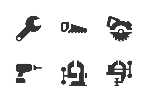 Tools Glyph 16x16 Icons By Arthur Shlain 16x16 Icons Glyphs Icon