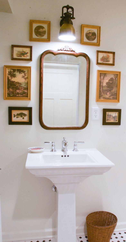 bathrooms get cottage charm makeover designer nell hill evday rh pinterest co uk