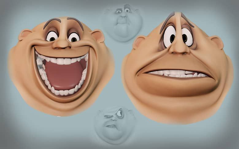 2d style facial rigging in 2019 cartoon expression 12