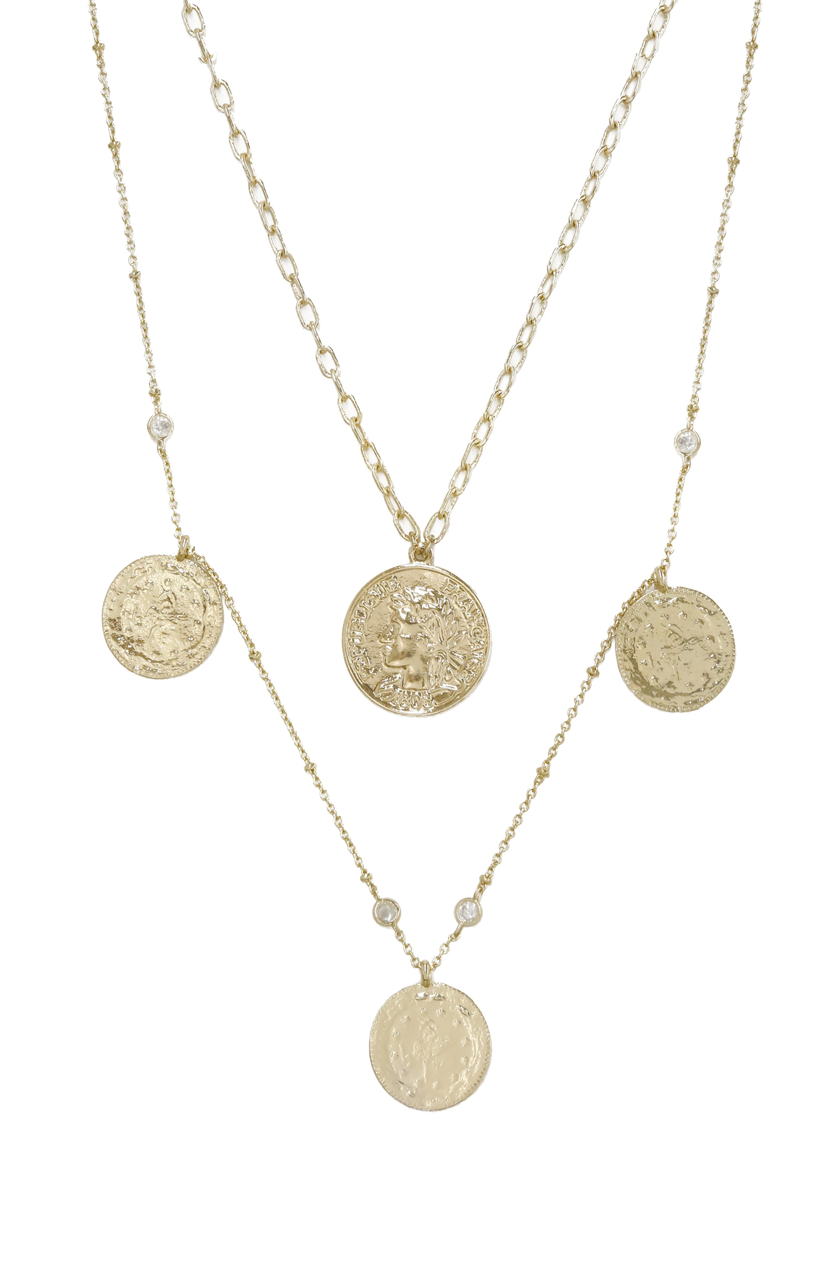 Ettika Set Of 2 Coin Pendant Necklaces Nordstrom In 2021 Coin Pendant Necklace Coin Pendant Fashion Necklace