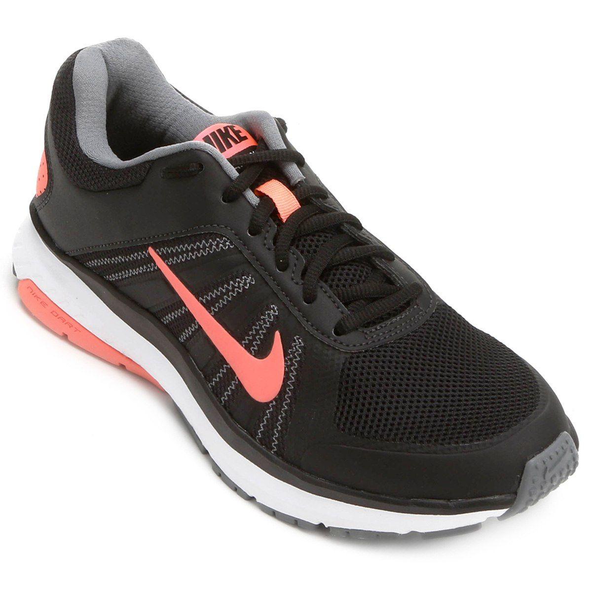 1d29ac999751d Tênis Nike Dart 12 MSL Feminino - Preto e Salmão