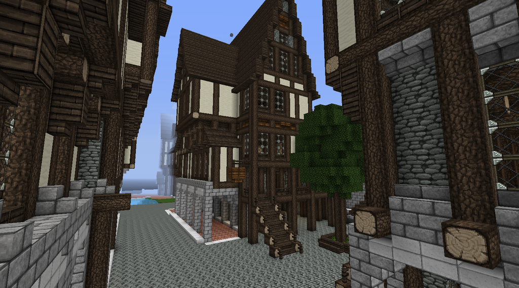 From The Harbour To The City Tudor Style Homes Minecraft Castle City