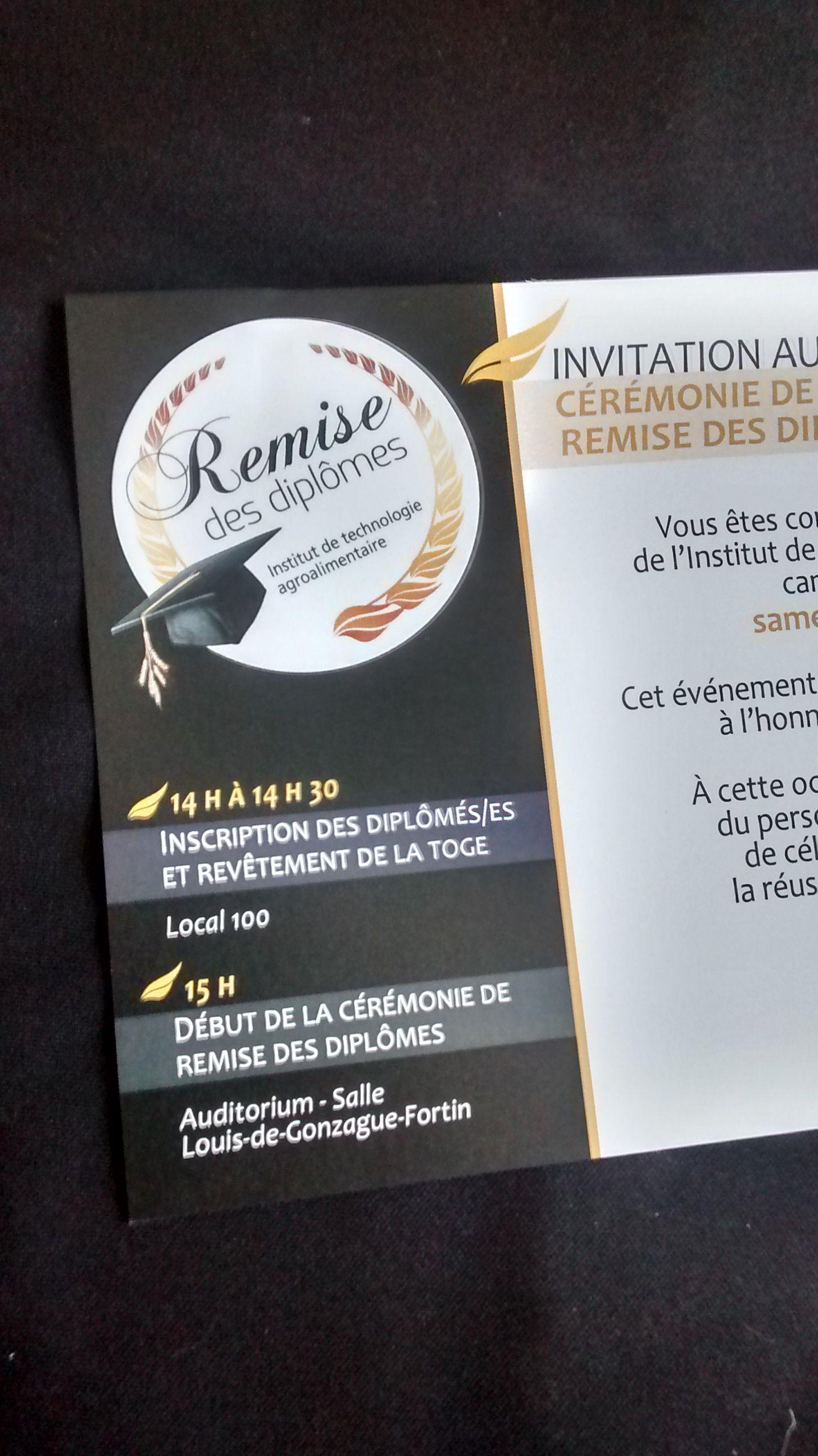 invitation remise des diplomes