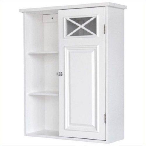 Elegant Home Fashion Dawson 1 Door Wall Medicine Cabinet W 3 Open Shelves White Bathroom Wall Cabinets House Styles Elegant Homes