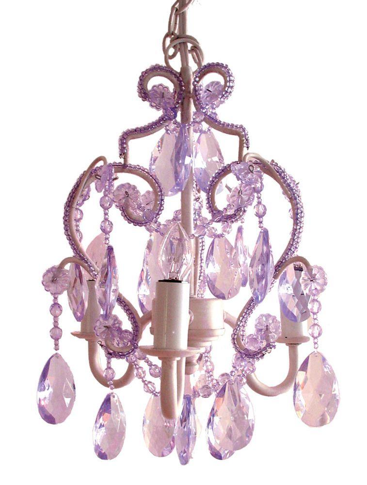Tadpole Chandelier Lavender Purple Lighting Nursery Room Crib Lamp