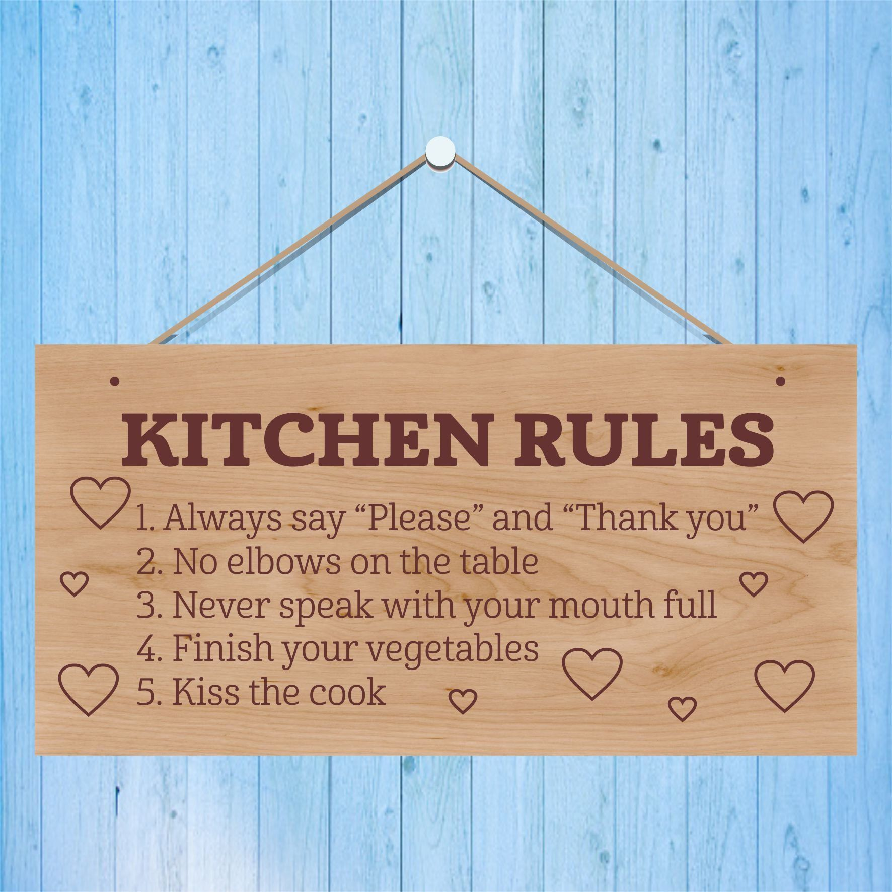 Kitchen rules- laser engraved wooden sign plaque #kitchenrules Kitchen rules- laser engraved wooden sign plaque by BelfieldTreasures on Etsy #kitchenrules