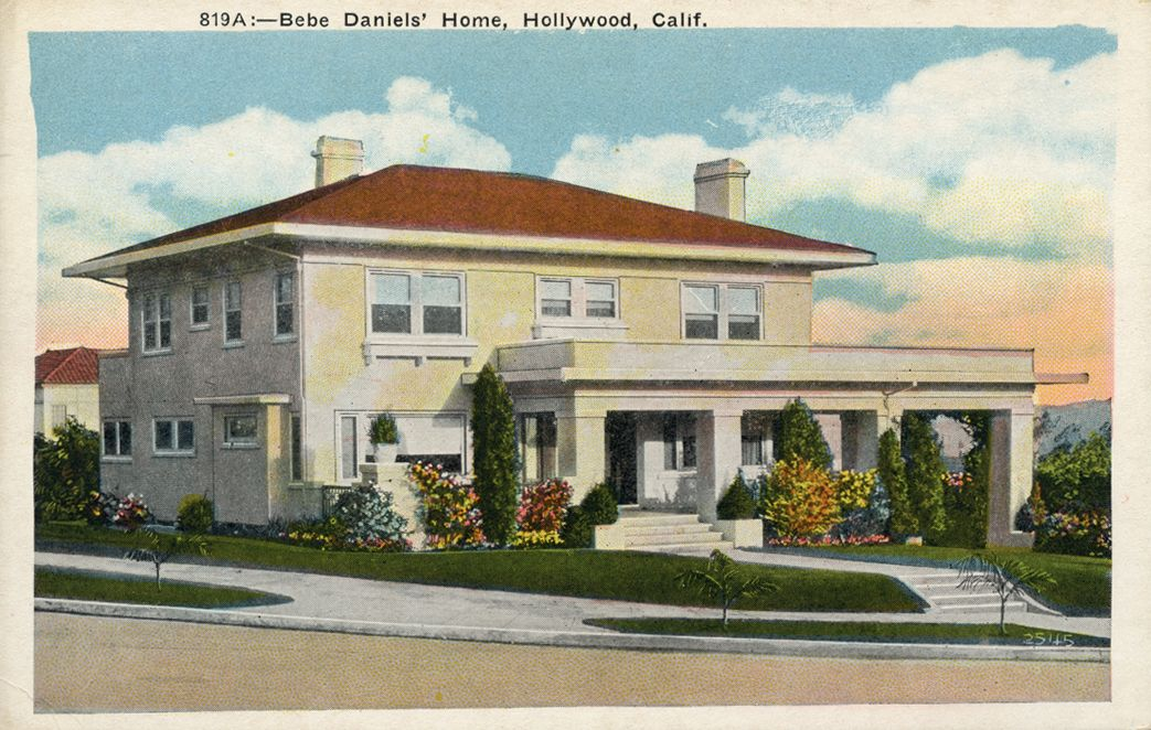 Home Of Silent Film Actress Bebe Daniels Silent Film Stars Homes