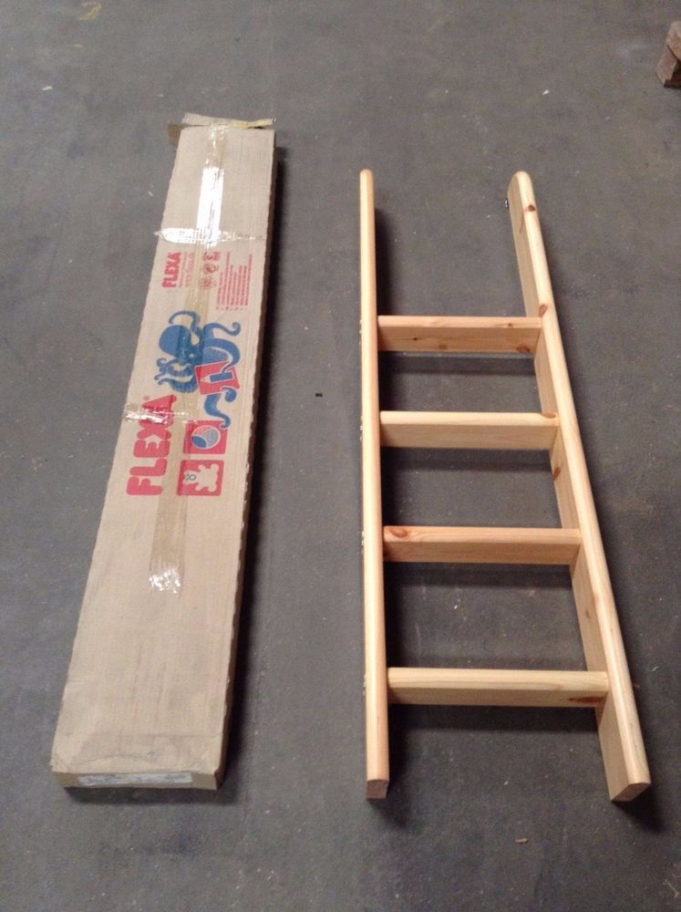 Flexa 4 Step Straight Natural Ladder For Bunk Beds 71475213 80014071