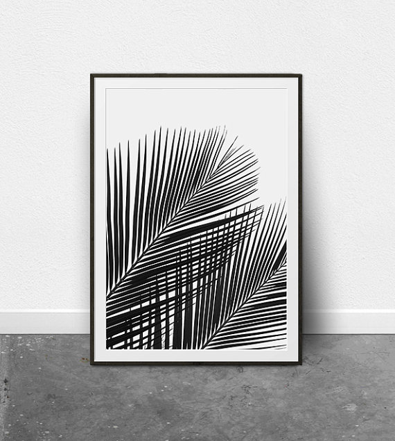 Tropical print palm leaf print palm leaf art printable art tropical plant