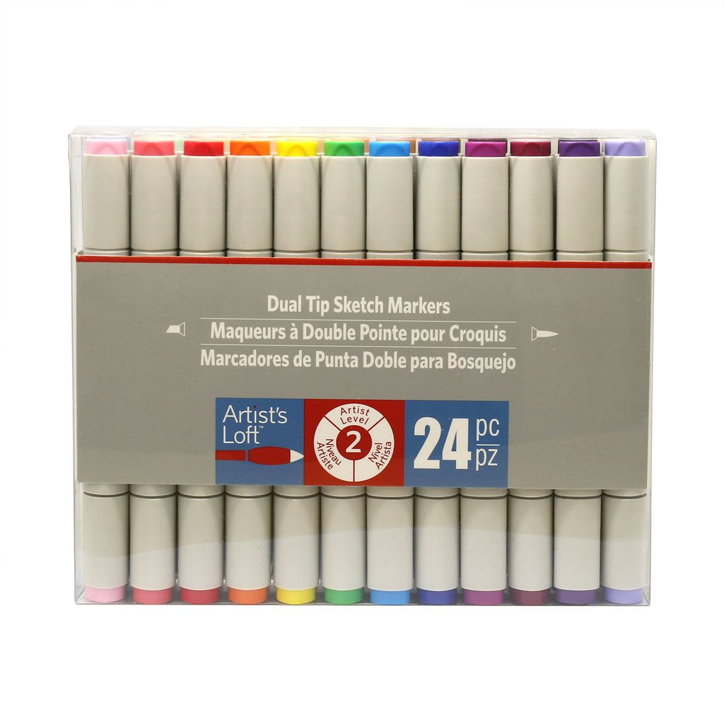 Watercolor Dual Tip Markers By Artist S Loft 24 Ct Artist Loft