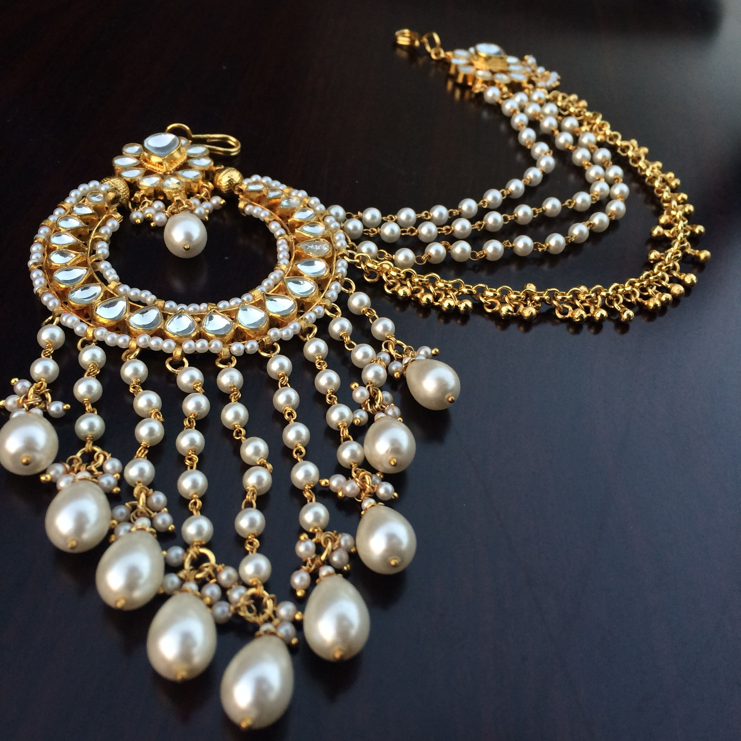 pinterest costume kundan mathapathi jewelry jewels fashion jewellery pearl indian pin traditional