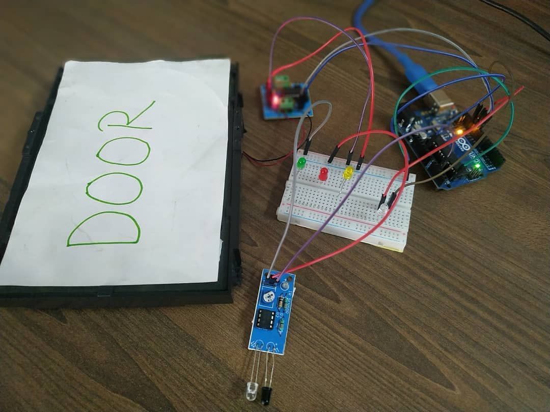 IR sensor base door open and close system 🕵️ If ir sensor detect object  then door ill open and led high. If ir not detec… | Stem education,  Projects, Mechatronics
