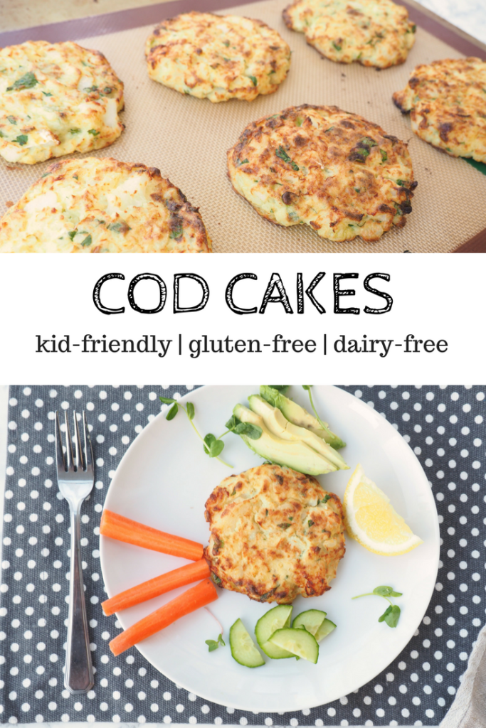 These nordic-inspired cod cakes are gluten-free, kid-friendly, and dairy-free. Perfect as an appetizer or light lunch or dinner.