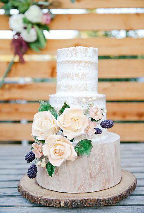 Rough Royal Icing Wedding Cake
