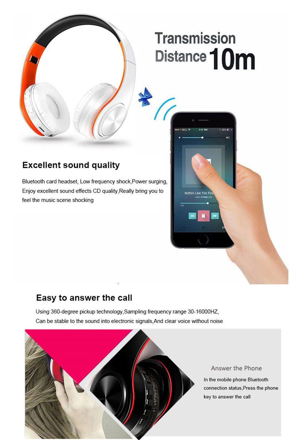 US 8.96 49 OFFHIFI Stereo Music Headphone Wireless