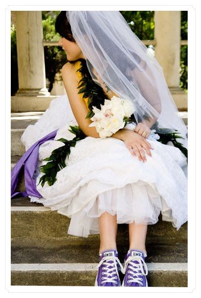 e9d686ef146f Me and my sister were talking about me wearing converse with my wedding  dress!  caroline k. Little
