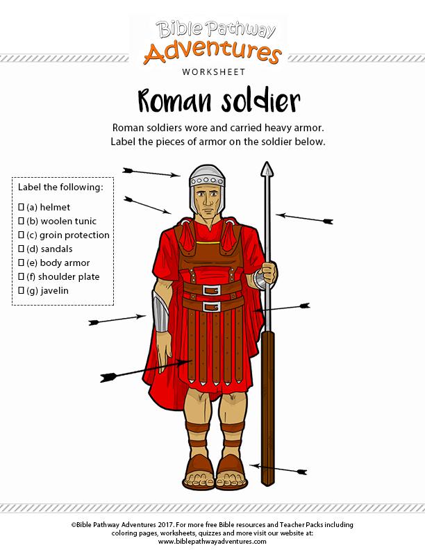 Roman Soldier worksheet   Roman soldiers, Sunday school ...