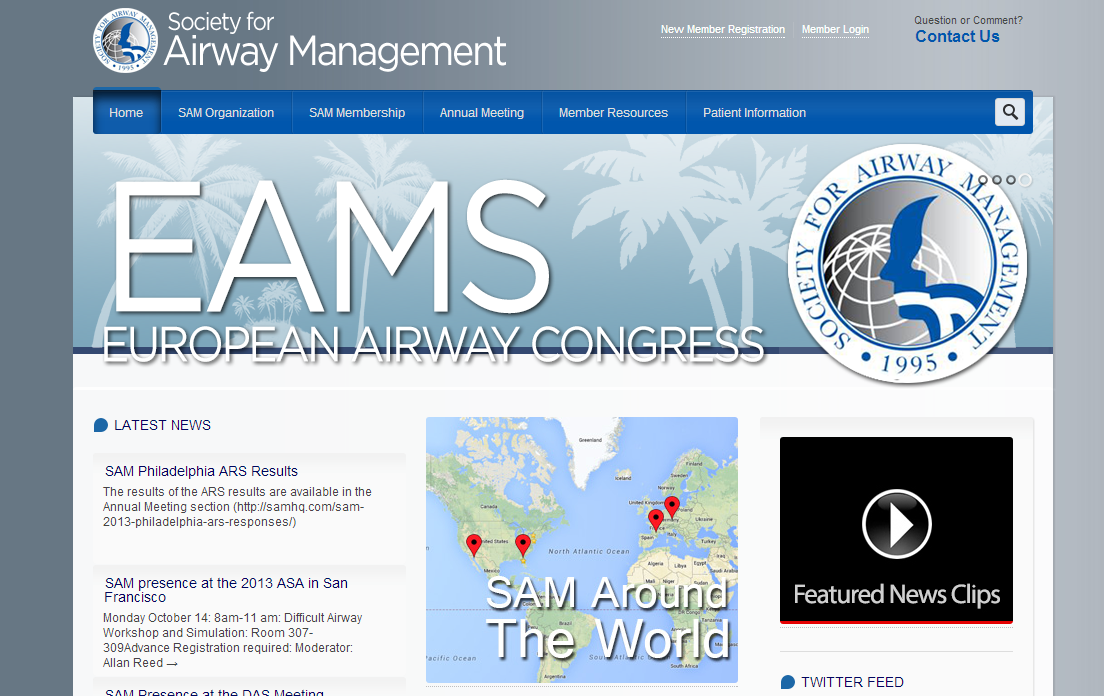 We Recently Built A Complex Site For The Society For Airway Management Working Around Their Current Sys Airway Management Marketing Services Marketing Agency