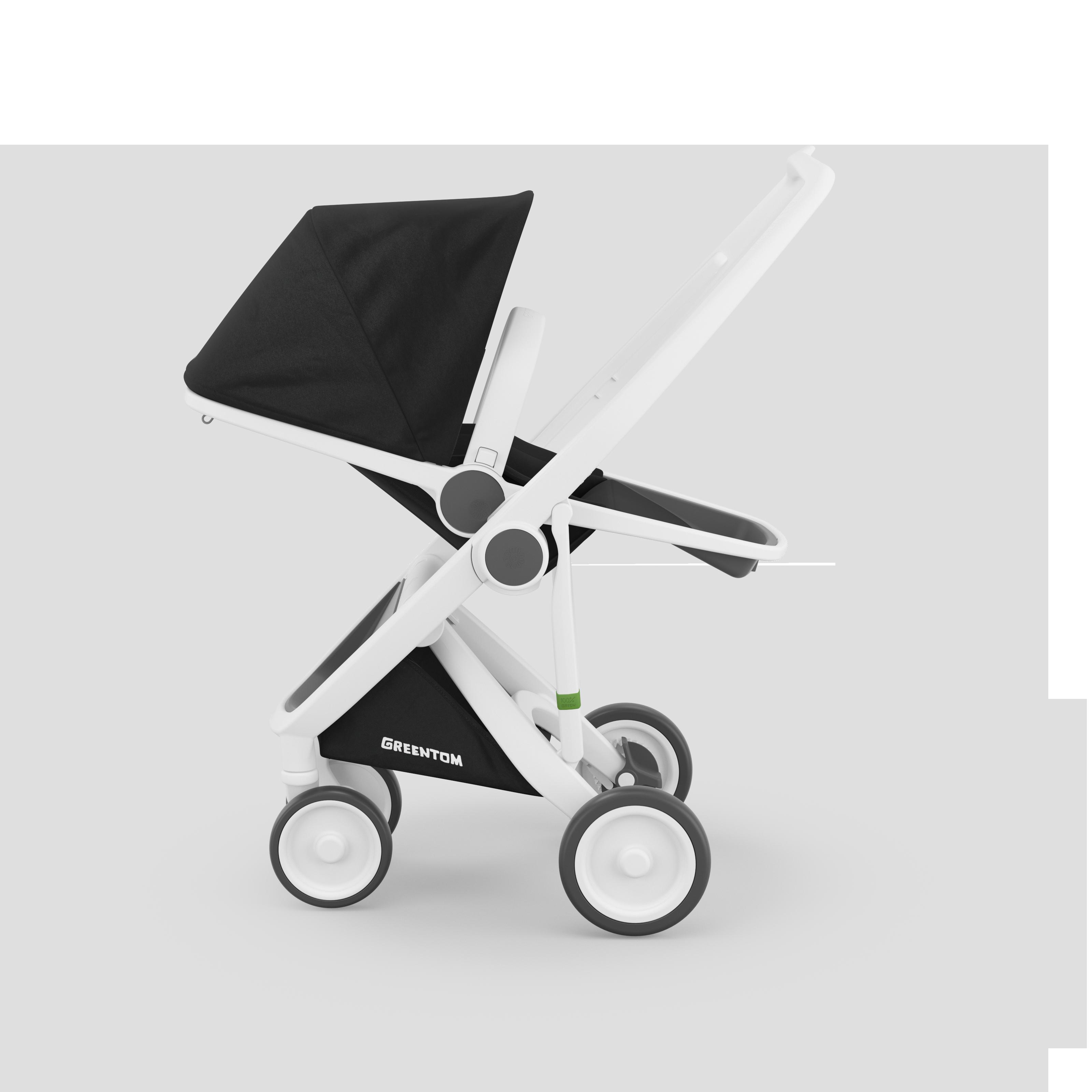 Greentom Reversible White Black Stroller, Nontoxic