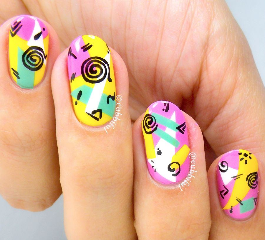 Nail art 90's
