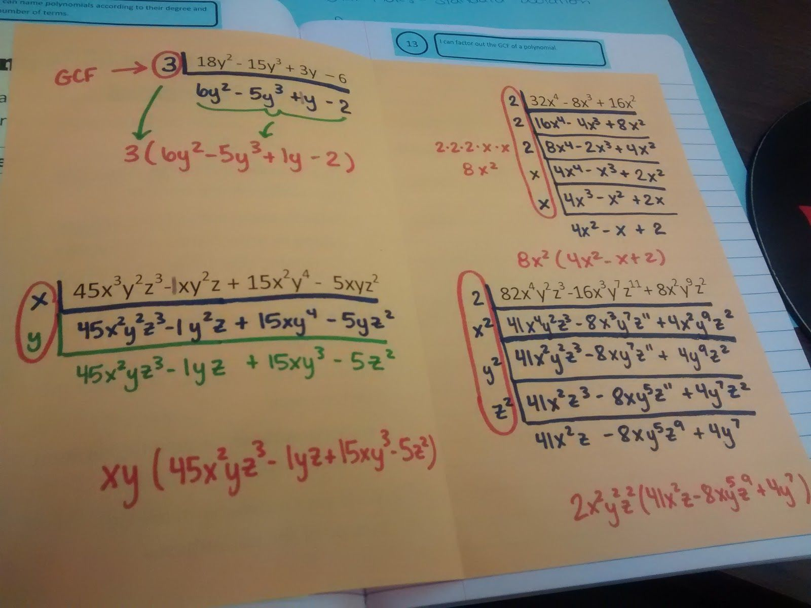 Math Love Factoring Out The Gcf Of A Polynomial