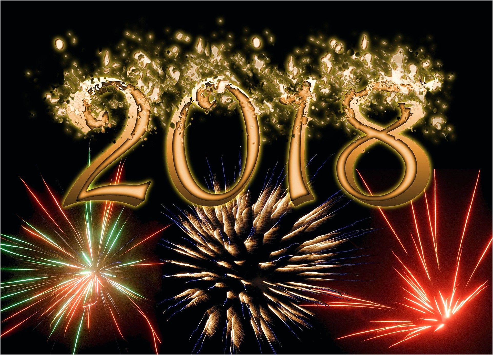 4k Wallpaper New Year 2018