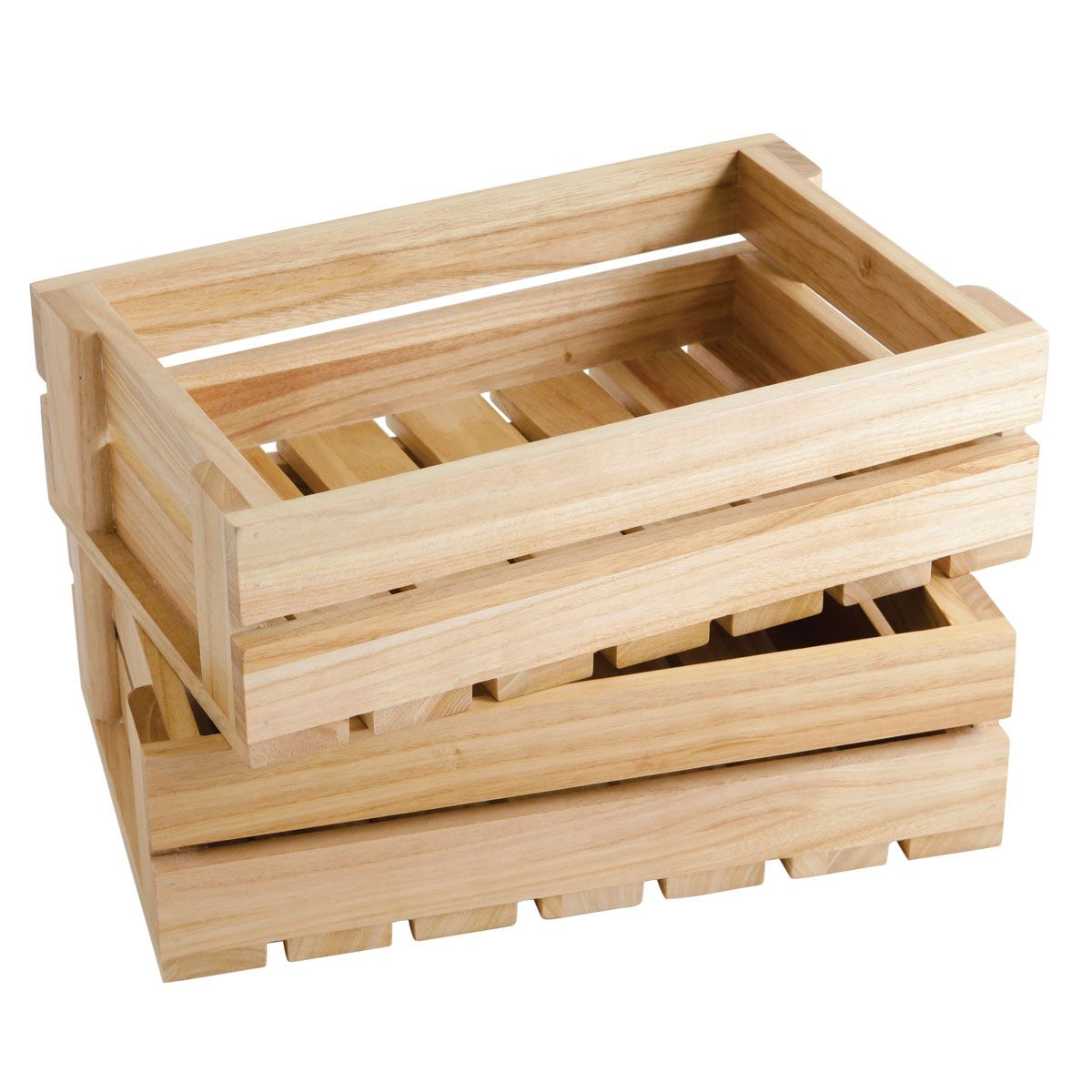 small wooden boxes here at we