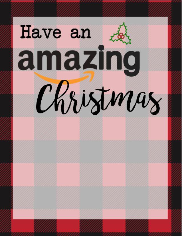 Printable Christmas Gift Card Holders For Amazon
