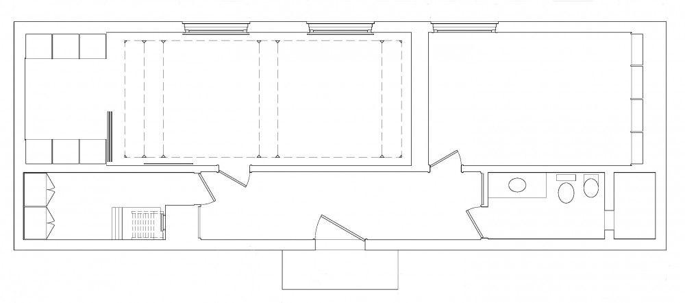 Philip johnson glass house layout