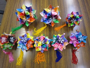 クリスマス 折り紙 折り紙くす玉の作り方 : pinterest.com