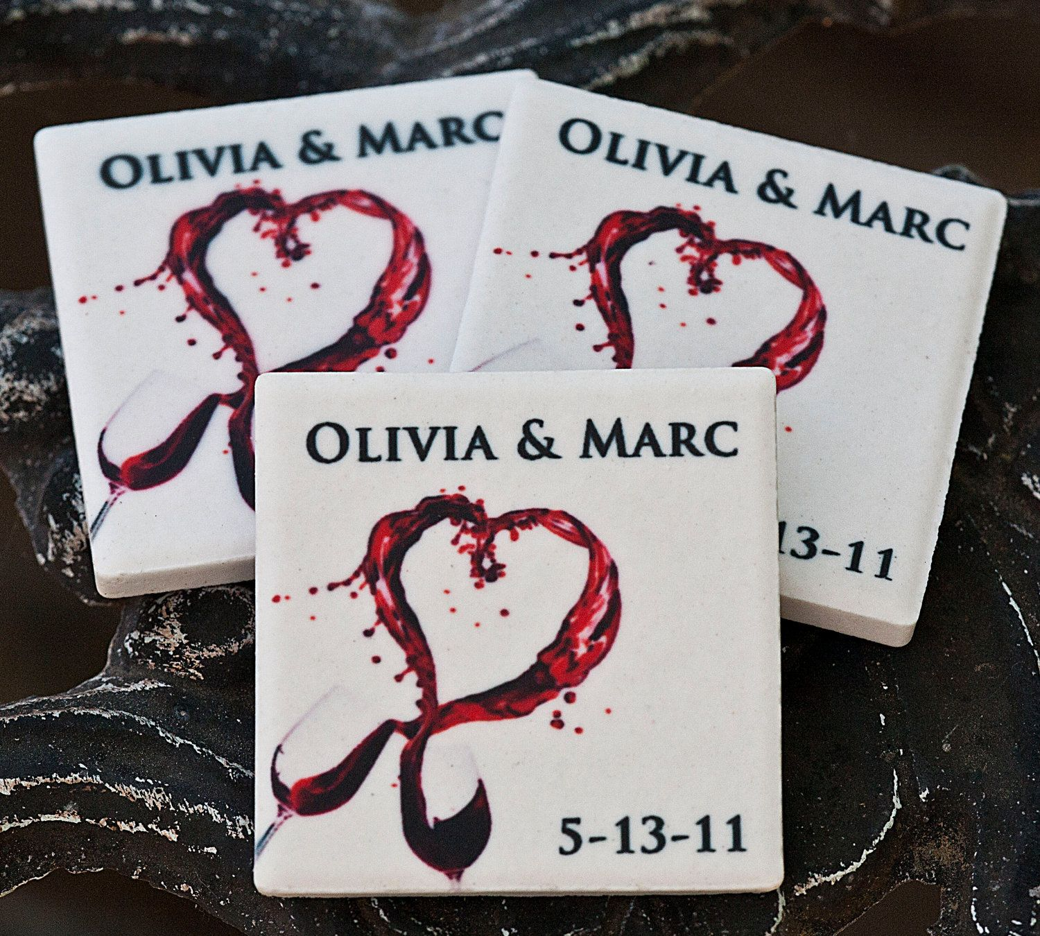 Save the date magnets wedding favor wine glass heart. $125.00, via ...