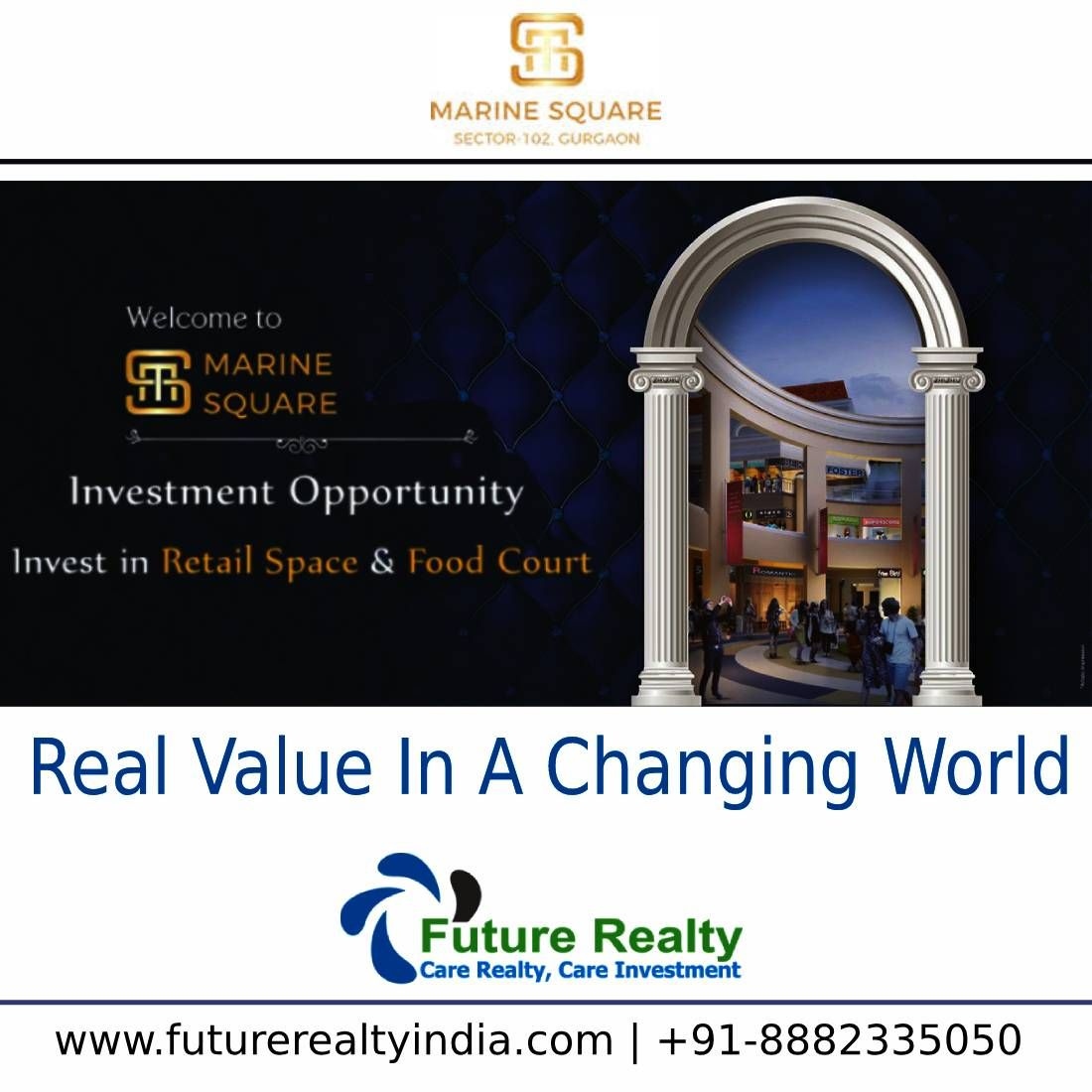 Real value in a Changing World.... Book JMS Marine Square ...