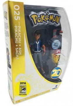 Pokemon 20th Anniversary San Diego Comic Con Pokemon Pikachu and Ash Figure Set