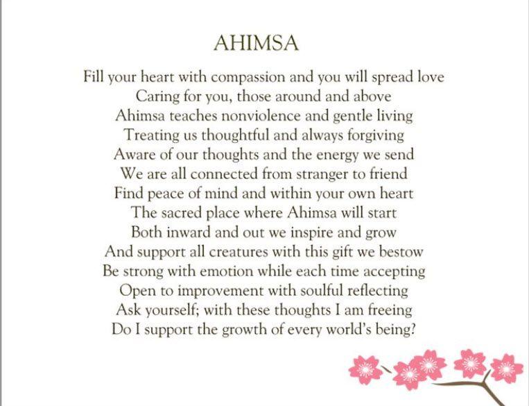 essay about ahimsa Ahimsa peace silk- a new way of gandhian clothing swarnima singh dr nilu sinha faculty prof & head (home sc deptt.