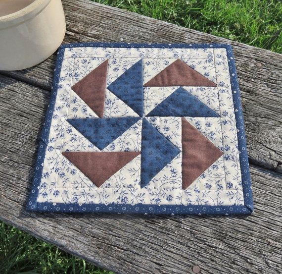 Chocolate Mocho Quilted Table Runner by scarecrowcabin on Etsy, $10.00