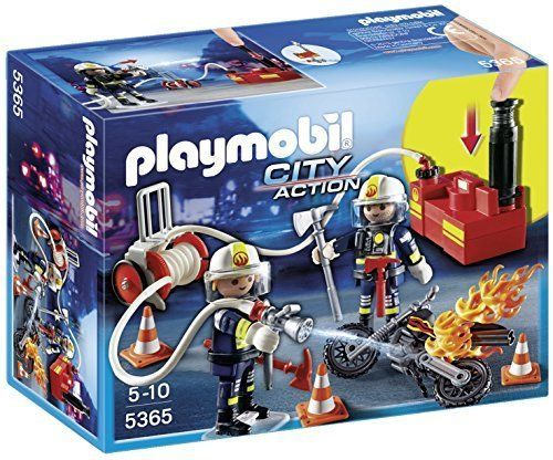 Badezimmer Playmobil ~ Playmobil city action fire brigade firefighter toy game water pump