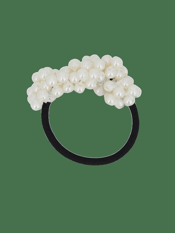 White Faux Pearl Hair Scrunchie