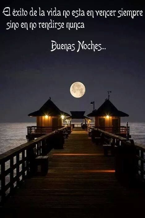 Frases Hermosas Buenas Noches Pensamientos Pinterest Moon