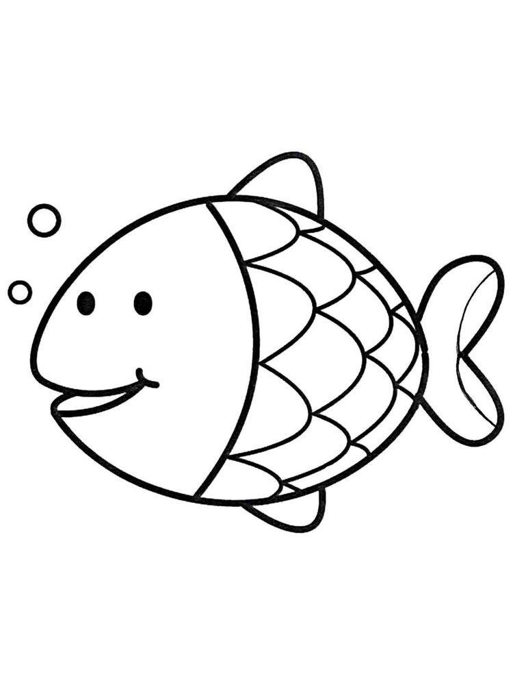 Basic Fish Coloring Page