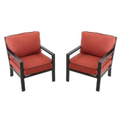 Hampton Bay Westbury 2 Pack Adjustable Conversation Chairs WZX